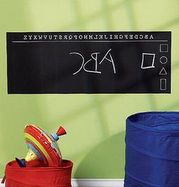 WALLIES ALPHABET CHALKBOARD wall sticker decal chalk ABC let