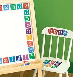 WALLIES ALPHABET LETTERS wall stickers 40 prepasted decals A