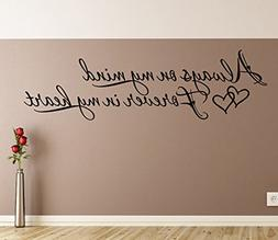 Always on my mind Forever in my heart Wall Decals Stickers,