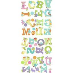 ANIMAL ALPHABET LETTERS wall stickers 43 decals ABC scrapboo