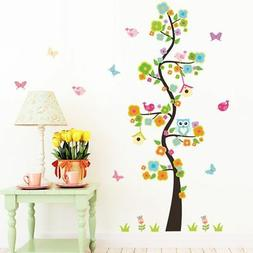 Animal owl butterfly flower tree vinyl wall stickers for kid