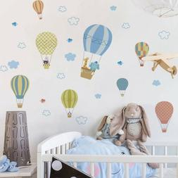 Animals Fire Balloon Removable Wall Decals Sticker Kids Baby