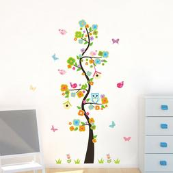 ZOOYOO® Animals Owl Butterfly Flower Tree Wall Stickers For