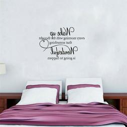 Art Home Decoration Wall Stickers Family & Heart WAKE UP Eng