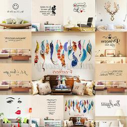 Art Vinyl Family DIY Removable Quote Word Wall Sticker Mural
