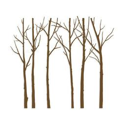 Art Wall Sticker Modern Bare Winter Trees Wall Decal for Hom