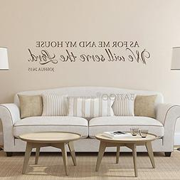 BATTOO As for Me and My House Wall Decal - Scripture Quote V
