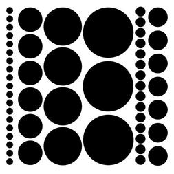 Assorted Size Polka Dot Decals - Repositionable Peel and Sti