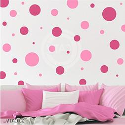 Assorted Vinyl Polka Dots circle wall decals vinyl stickers