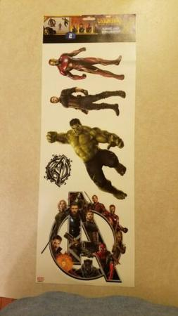 Marvel Avengers 5 Wall Decals NEW Thor Captain America Spide