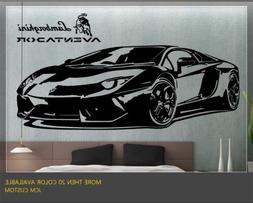 JCM Custom Aventador Sports Car Removable Wall Vinyl Decal S