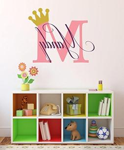 Baby Girl Initial Personalized Custom Name Vinyl Wall Decal