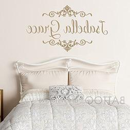 BATTOO Baby Girls Name Wall Decal with Beautiful Shabby Chic