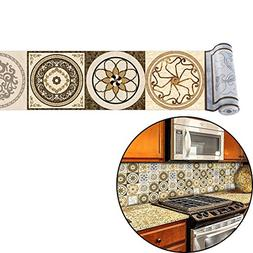 ChasBete Backsplash Tile Stickers 7.9x197inch Peel & Stick V