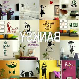 Banksy Wall Stickers - Home Vinyl Transfer - Self Adhesive A