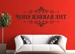 The Barber Shop Sign Quote Wall Decals Removable Vinyl Wall