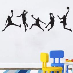Basketball Players Wall Decals Slam Dunk DIY Wall Stickers f