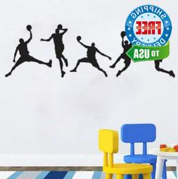 Basketball Players Wall Decals Slam Dunk DIY Stickers for Ki