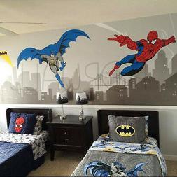 Batman and Spiderman Super Hero Themed Room- Avengers Wall s