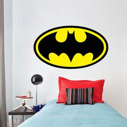 Batman Logo Superhero Wall Decal DC Comic Decals Justice Lea