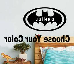 BATMAN PERSONALIZED DECAL Justice League NAME SUPER HERO WAL