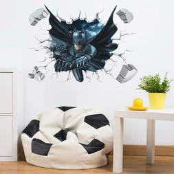Batman Wall Sticker 3D Superhero Wall Art Poster For Kids Bo