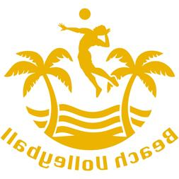 "Beach Volleyball 4"" Vinyl Decal Car Window Sticker AVP Outdo"