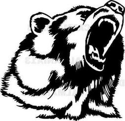 Bear Head Decal Angry Grizzly Wall Car Truck Laptop Window V