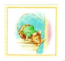 Beatrix potter mouse wall decal square wall safe fabric cut