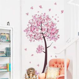 BIBITIME Beautiful Butterfly Tree Wall Decals Living Room Br
