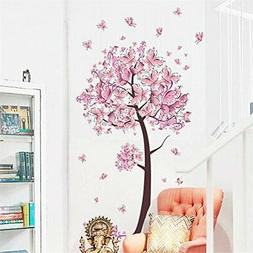 BIBITIME Beautiful Butterfly Tree Wall Decals