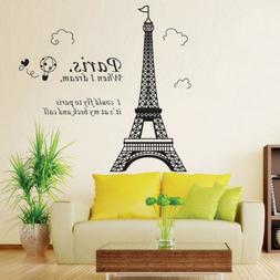Paris Eiffel Tower Art Decal Mural Wall Sticker Removable Ho