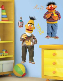 Bert and Ernie Giant Wall Decals Sesame Street Roommates