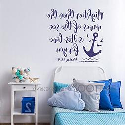 BATTOO Bible Verse Wall Decal Mightier Than The Waves of The