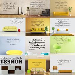 Bible Verse Wall Decals Word Vinyl Removable Sticker Quote I