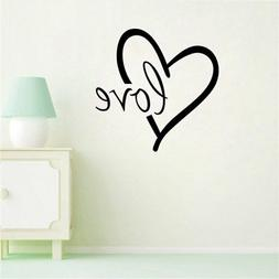 BIBITIME Big Heart Decal Stickers Love Wall Sign Sayings Quo