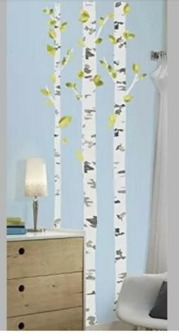 4 pack of RoomMates Birch Trees Peel & Stick Giant Wall Deca