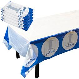 Disposable Table Covers - 6 Pack 1st Birthday Party Decorati