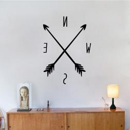 BIBITIME Black Arrows Compass Wall Decals Tribal Nautical Na