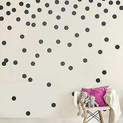 Black Wall Decal Dots  | Easy Peel & Stick + Safe on Walls P