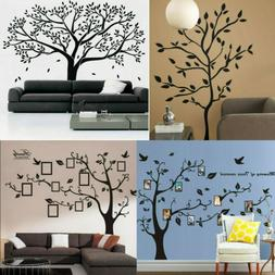 Black Family Tree Stickers Wall Sticker Removable DIY Art Ho