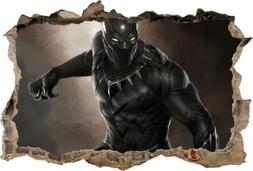 black panther captain america smashed wall decal
