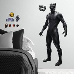 "RoomMates Black Panther Movie Decal, 36.5"" x 17.25""/36.5"" x"