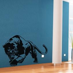 Black Wall Sticker Decal Decor Lovely Animal Panther Wall Ar
