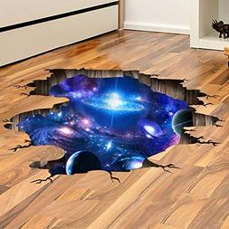 Provone Blue Purple Galaxy Wall Decals , Removable Sticker,T