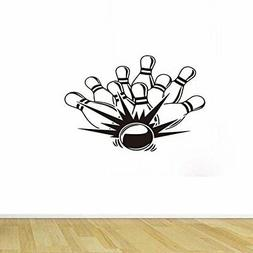 BIBITIME Bowling Wall Decals Sticker for Game Fans Bedroom R