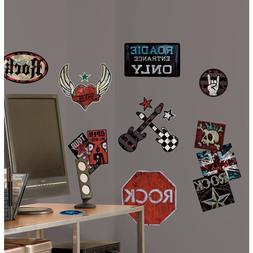 RoomMates Boys Rock n Roll Peel & Stick Wall Decals