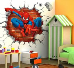 Breakthrough Wall Decals Removable 3D Wall Stickers Kids Bed