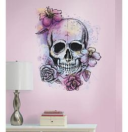 RoomMates Bright Floral Skull Peel & Stick Giant Wall Decals