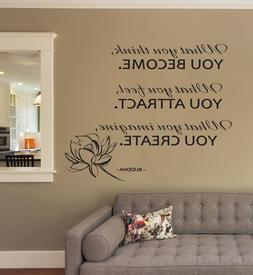 Buddha Quote Wall Decals Motivation Sticker Lotus Decal For